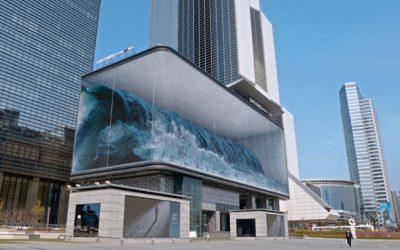 Huge wave in Seoul